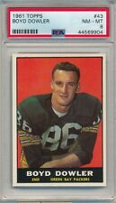 1961 TOPPS BOYD DOWLER RC #43 PSA 8 ROOKIE PACKERS
