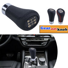 Universal 5 Speed Leather Car Manual Shift Knob Gear Stick Shifter Lever Handle
