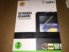 "Belkin Screen Guard for Kindle Fire HD 8.9"" Transparent TrueClear 2 Pack NEW"