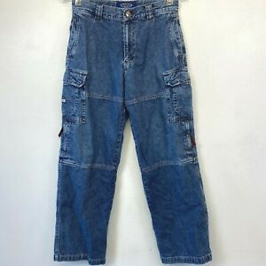 Vintage Lee Pipes Cargo Jeans Boys Y2K size 16R Skater 28x29 made in Russia KC