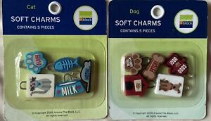 AROUND THE BLOCK SOFT CAT & DOG CHARMS