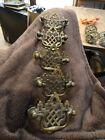 Set of 5 antique brass drawer handles  drop pulls