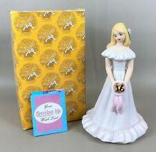 "1981 Enesco Growing Up 16th Birthday ""A Pretty Girl"" Music Box Figurine w/ Box"