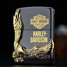 Black Ice Harley Davidson Great Gold Eagle Zippo Lighter - Us Shipping