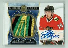 17-18 UD Upper Deck The Cup Limited Logos  Artem Anisimov   /50  Auto  Patch