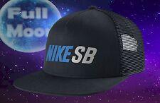 New NIKE SB Daily Use Mens Blue Reflective Skateboard Snapback Trucker Cap Hat