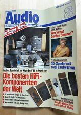 Audio HiFi-Magazin # Zeitschrift für Hifi & Musik # August1985