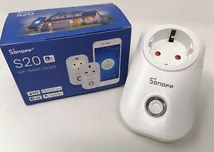 2 X Sonoff S20 EU WIFI Smart Steckdose Socket für Google Home Alexa