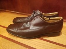 BARNEYS NEW YORK Men's Brown Leather Lace Up Oxford Work Dress Shoes Sz 12M