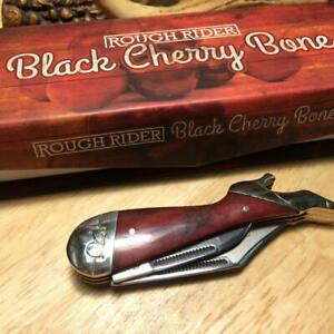 "Rough Rider Black Cherry Lady Leg 3 1/4"" Pocket Knife RR1667"