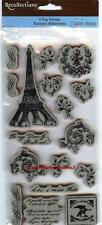 Rubber Cling Stamps PARIS FRANCE LOVE FRENCH Flourishes Stunningly Beautiful!!!
