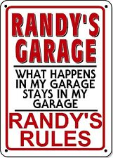 RANDY'S GARAGE SIGN - NOVELTY Polystyrene SIGN GARAGE Man cave
