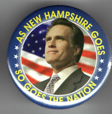 MITT ROMNEY President 2012 Pin pinback button 2.25 inch NEW HAMPSHIRE