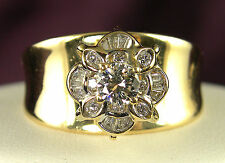 .73 CT Approximate Total Weight Genuine Diamond Ring .33 CT Center - 14KT Gold