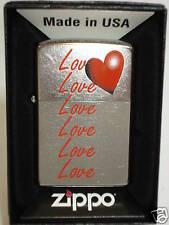 "ZIPPO "" Heart Love "" pour Saint-Valentin - NEUF - 406"