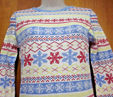 CHRISTMAS thermal pajamas Nordic juniors med size 7-9 sexy snowflakes Sweden