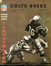 1965 49ers @ Colts NFL Program 10/3/65 EX/MT 30918