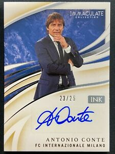 ANTONIO CONTE 2020 PANINI IMMACULATE INK AUTO SP 23/25 FC INTER MILAN MANAGER