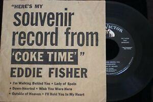 Coca-Cola COKE TIME 45rpm Eddie Fisher TV Show 1957 RCA Victor Disneyland intrst