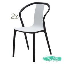 Sedia Moderna in Polipropilene Nero e Bianco - 2 Pezzi SPEDIZIONE GRATUITA