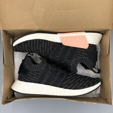 Adidas NMD R2 Sneakers Black Prime Knit PK BA7239 Size 11 Women's Pink Boost