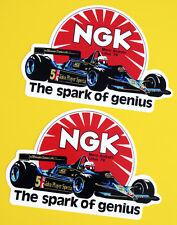 Vintage Classic 'JPS LOTUS 1979' NGK F1 retro  stickers decals