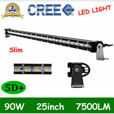 NEW 5D 90W 25inch LED Light Bar Driving SINGLE ROW Offroad Truck 4WD BOAT 24/26