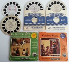 10 Viewmaster Movie & TV Cowboy Reels Sawyers Lone Ranger Gene Autry Hopalong