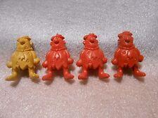 4 Vintage Fred Flinstone Pencil Toppers