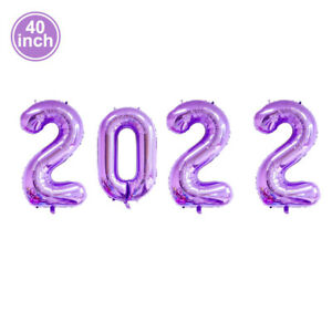 32/40 Inch Number Aluminum Foil Balloon Colorful Christmas New Year Decor 2022