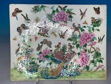 Old Chinese Republic Period Famille Rose Antique Porcelain Plaque