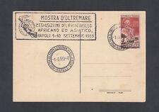 Italy 1953 25 Lira Stamp Exposition Postcard Naples Unaddressed