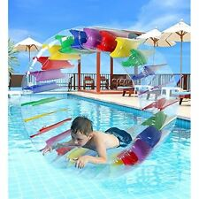 "Inflatable Water Wheel Roller Float Kids Pool Toys Summer Colorful 52"" Diameter"