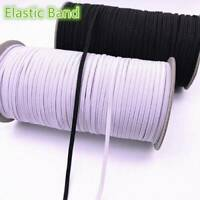 "5 Yards Elastic Cord String 1/8"" 3mm Braided Sewing Flat Elasticated Band Strap"