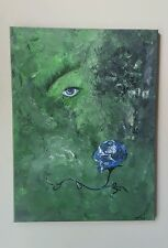 Envy-Never be green 18x24 surrealism acrylic on stretched canvas