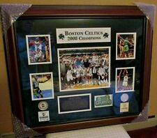 FRAMED BOSTON CELTICS NBA CHAMPIONSHIP COLLAGE WITH HIGHLAND MINT LTD EDT COINS