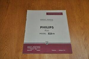 Philips 523UB  Radio Receiver Workshop Service Manual 523 UB
