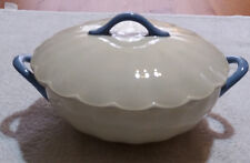 LILAC Cream Petal Art Deco Lidded Vegetable Tureen Serving Dish 1930's Grindley