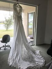 Bridal Original Long Sleeve Traditional White Gown Wedding Dress Size 7-12