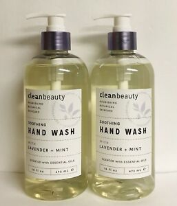 2 Bottles Lavender & Mint Soothing Hand Wash with Essential Oils 16 fl oz Each