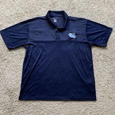 New listing UNC Tar Heels NCAA North Carolina University 2XL Blue Champion Polo Shirt QQ34