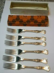 "LOVELY SET OF 6 COOPER BROS SHEFFIELD SILVER PLATED EPNS KINGS PATTERN 7"" KNIVES"