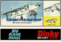 Dinky Toys 722 Hawker Harrier Jump Jet A3 Size Poster Advert Leaflet Shop Sign