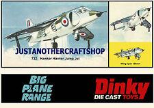 Dinky Toys 722 Hawker Harrier Large Size Poster Advert Leaflet Display Sign