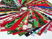 """Christmas Fabric Charm Pack Lot - 100% Cotton Quilt Fabric Pre Cut 2.5"""" Squares"""