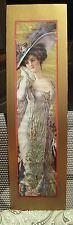 ORIGINAL 1920S POMPEIAN YARD LONG PRINT - BEAUTIFUL LADY IN VICTORIAN DRESS/HAT