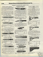 1924 PAPER AD Marble's Hunting Knife Knives Woodcraft Pocket Axe Leather Handle