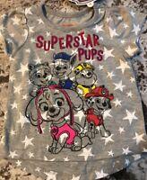 "NWT TODDLER GIRL PAW PATROL ""SUPERSTAR PUPS"" SHIRT SIZE 2T"