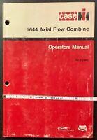 CASE IH 1644 Axial Flow Combine Operator Manual, Rac9-23850, 1992, ORIGINAL