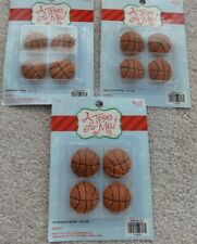 12 BASKETBALL MINI CHRISTMAS HOLIDAY TREE DECORATIONS BY A TREE FOR ME!